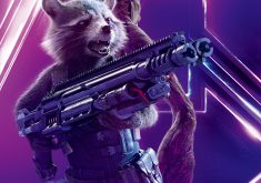 Rocket Raccoon Avengers Infinity War Poster 8K Wallpaper