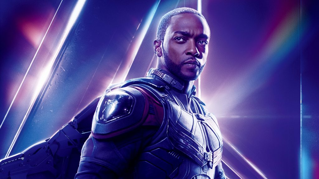 Sam Wilson Avengers Infinity War Poster 8K Wallpaper