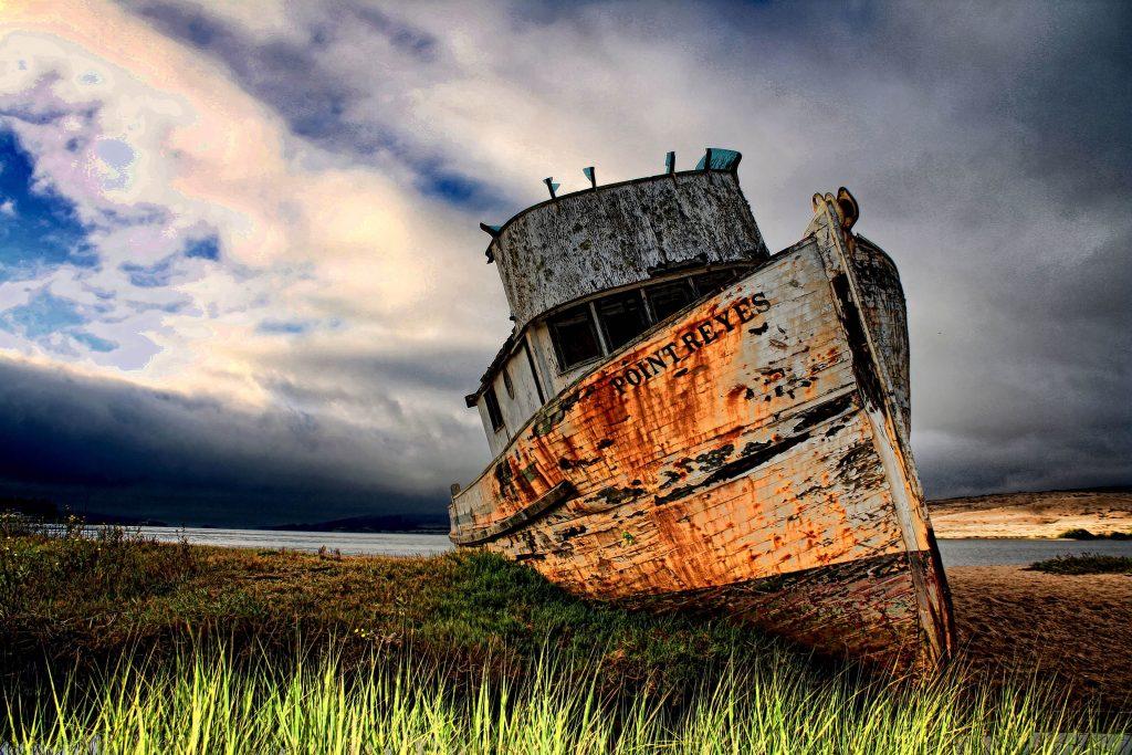 Ship Rust Abandoned Old 4K Wallpaper