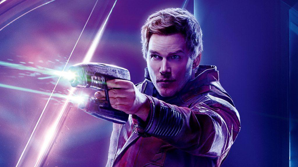 Star Lord Avengers Infinity War Poster 8K Wallpaper