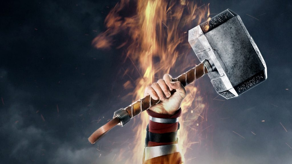 Thor Hammer Mjolnir Movie 4K Wallpaper
