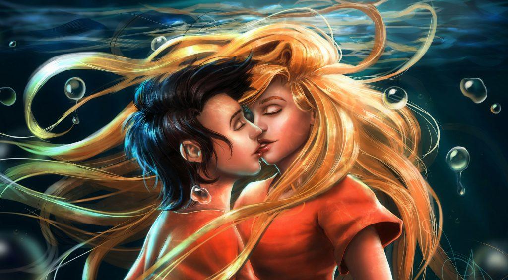 Underwater Kiss Best Kiss Lip Kiss Couple Lovers 4K Wallpaper