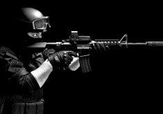 United States Navy Seals Monochrome 4K Wallpaper