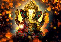 Vinayaka Ganapati Lord Ganesha Statue 4K Wallpaper
