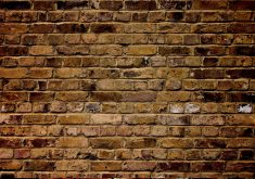 Wall Bricks Pattern Red 4K Wallpaper