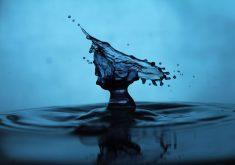 Waterdrop Drop Water Blue 4K Wallpaper