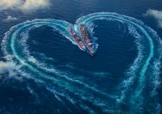 World of Warships Love Heart Ocean 4K Wallpaper