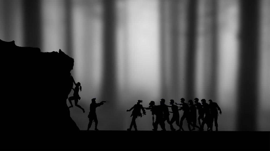 Zombies Black White Monochrome 4K Wallpaper
