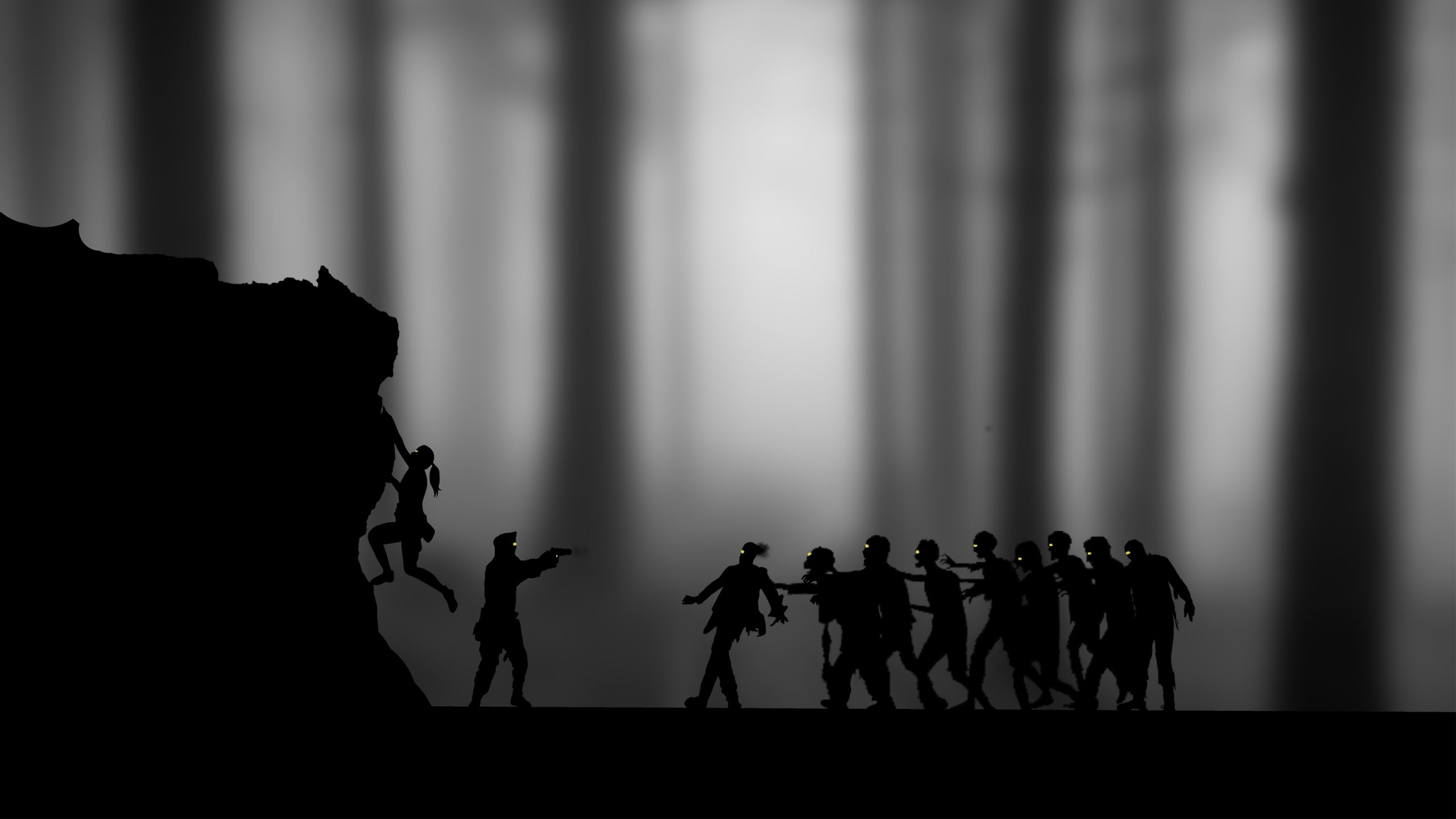 Zombies Black White Monochrome 4k Wallpaper Best Wallpapers