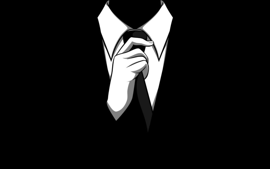 Anonymous Tie Monochrome 4K Wallpaper