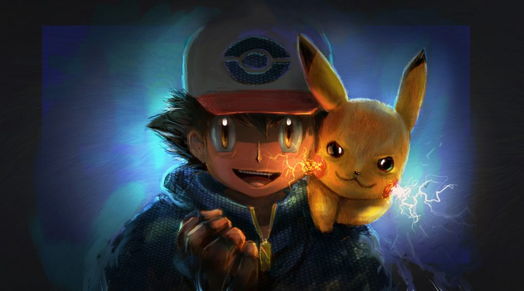 Ash Ketchum Pikachu Artwork 4K Wallpaper