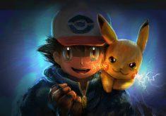 Ash Ketchum Pikachu Artwork 4K Wallpaper