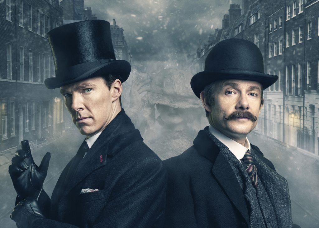 Benedict Cumberbatch and Martin Freeman Sherlock Holmes 4K Wallpaper