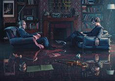 Benedict Cumberbatch and Martin Freeman Sherlock Holmes Room TV Show 4K Wallpaper