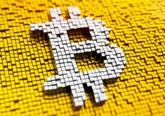 Bitcoin Cryptocurrency Logo Gold Silver 5K Wallpaper