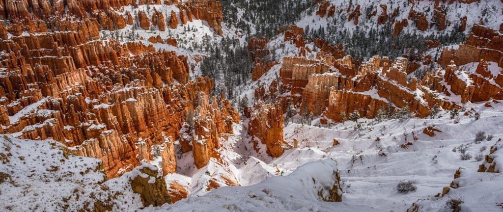 Bryce Canyon Winter Snow 5K Wallpaper
