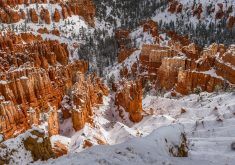 Bryce Canyon Winter Snow 5K Wallpaper