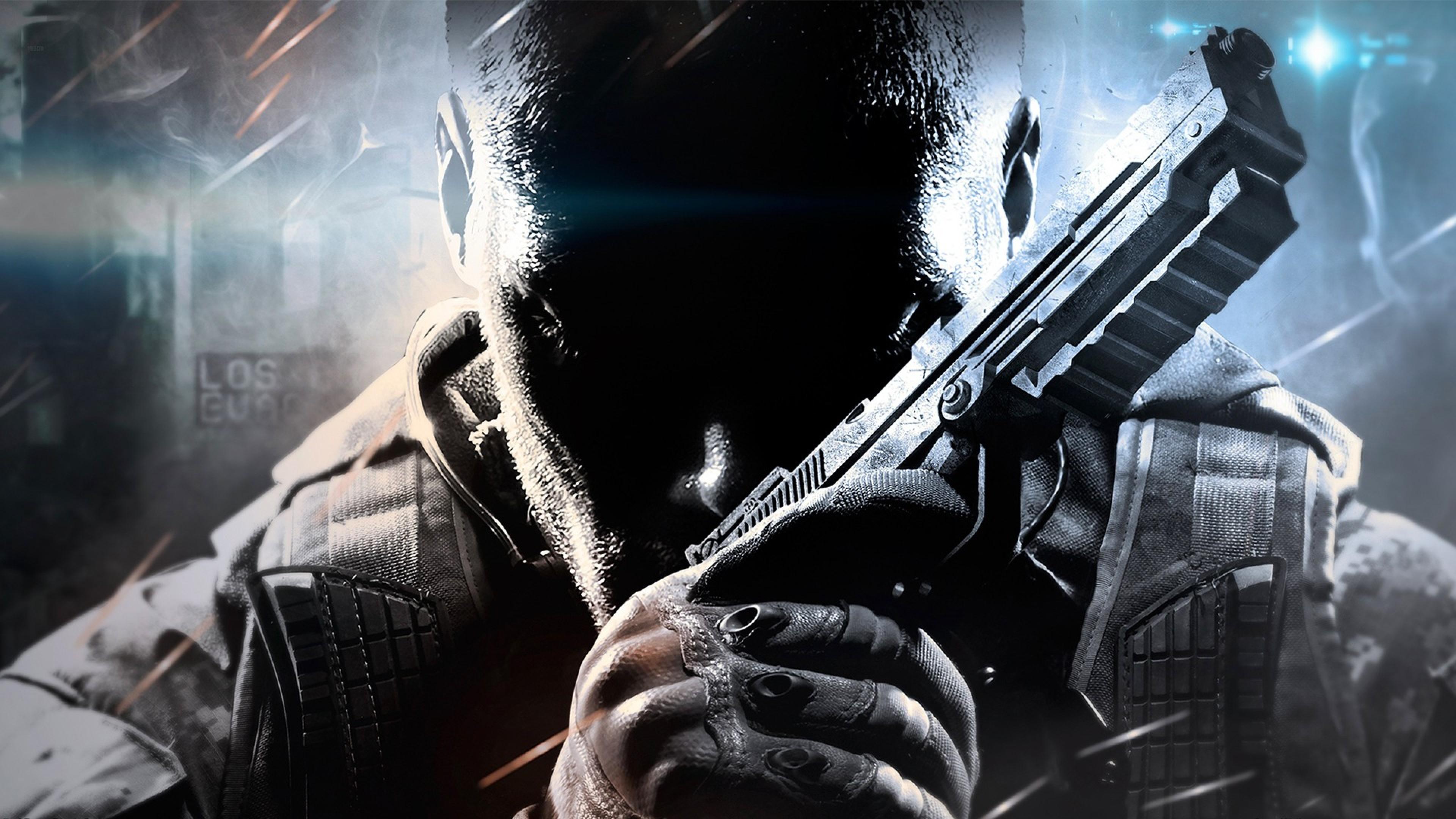Call Of Duty Black Ops 2 Face Gun 4k Wallpaper Best Wallpapers