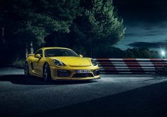 Car Night Sport Car Yellow 4K Wallpaper