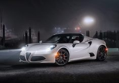 White Car Sport Car Night 4K Wallpaper