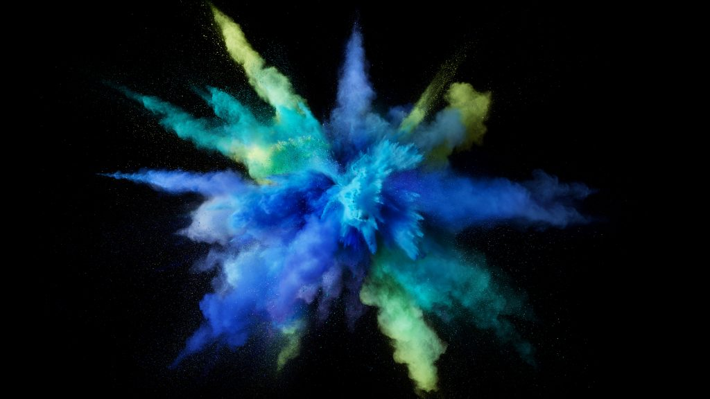 Color Powder Blue Yellow Macbook Pro 5K Wallpaper