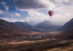 Colorful Hot Air Balloon Ride Mountains 5K Wallpaper