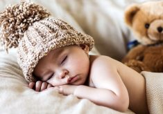 Cute Child Kid Hat Sleeping 4K Wallpaper