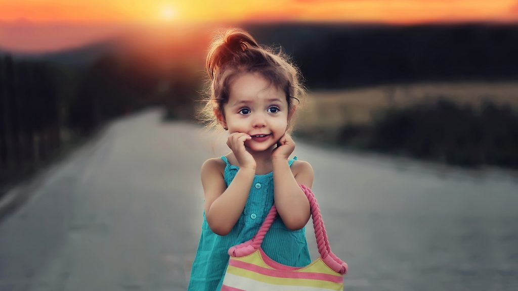 Cute Stylish Child Girl 5K Wallpaper