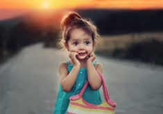 Cute Stylish Child Girl 5K Wallpaper