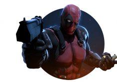 Deadpool 2 Gun Red 4K Wallpaper