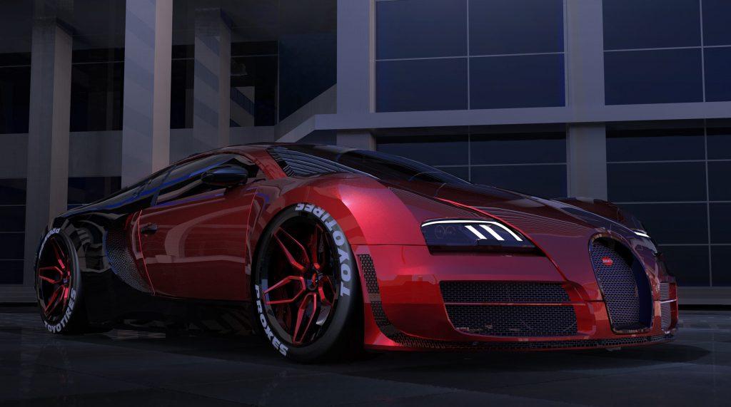 Deadpool Bugatti Veyron Car 4K Wallpaper