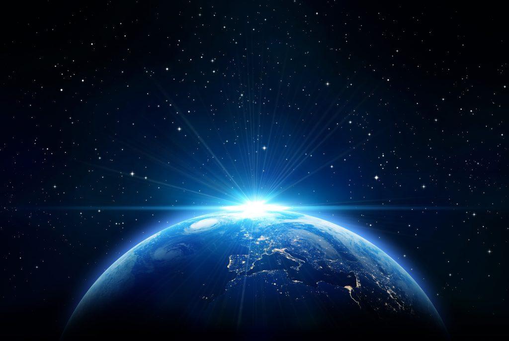 Earth Blue Stars Light 4K Wallpaper