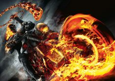 Ghost Rider Movie Fire Bike 4K Wallpaper