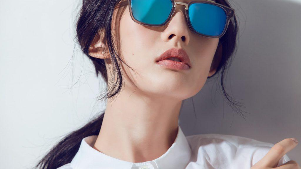 Girl Beautiful Beauty Blue Sunglasses 4K Wallpaper