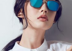 Girl Beautiful Beauty Blue Sunglasses 4K Wallpaper