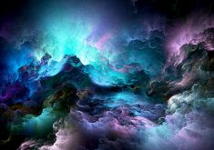 Glowing Clouds Abstract Blue Purple 5K Wallpaper