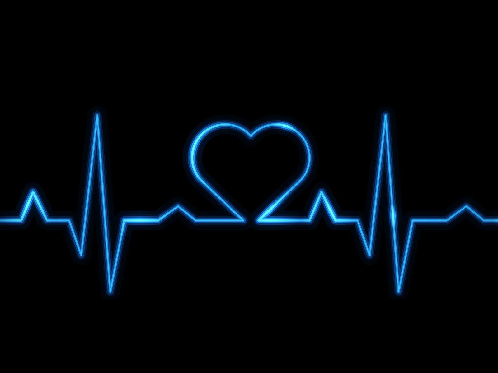 Heartbeat Heart Black Blue 8k Wallpaper Best Wallpapers