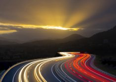 HightWay Road Path Way Traffic Lights 5K Wallpaper