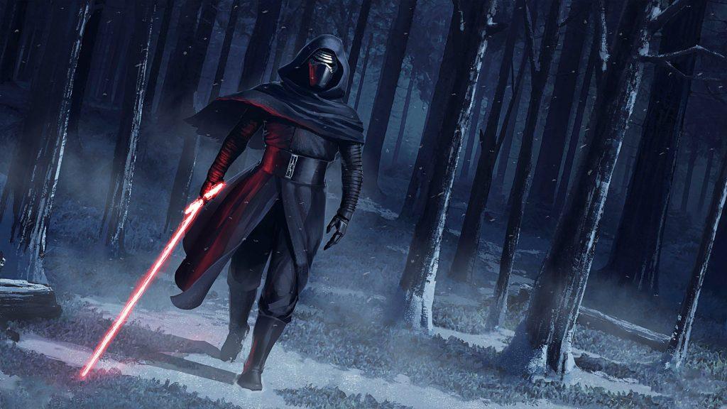Kylo Ren Star Wars the Force Awakens Artwork 4K Wallpaper