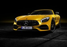 Mercedes-AMG GT C Roadster 2018 Front Yellow 4K Wallpaper