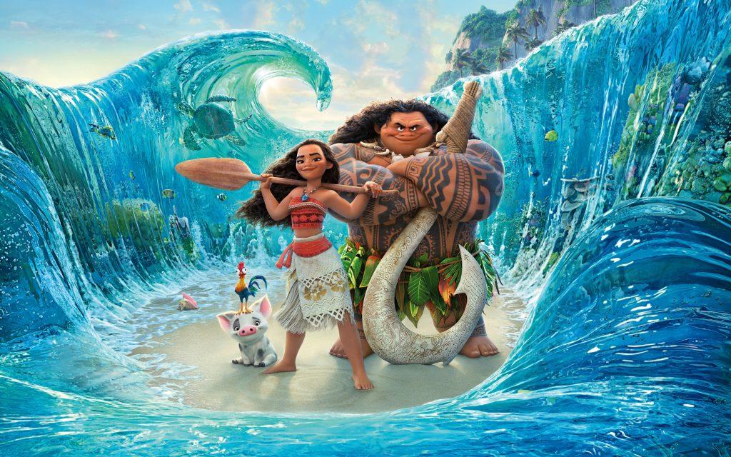 Moana Maui Ocean Animation Movie Poster 4K Wallpaper