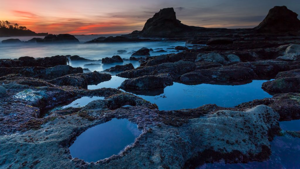 Nature Blue Sunset Ocean Water 5K Wallpaper