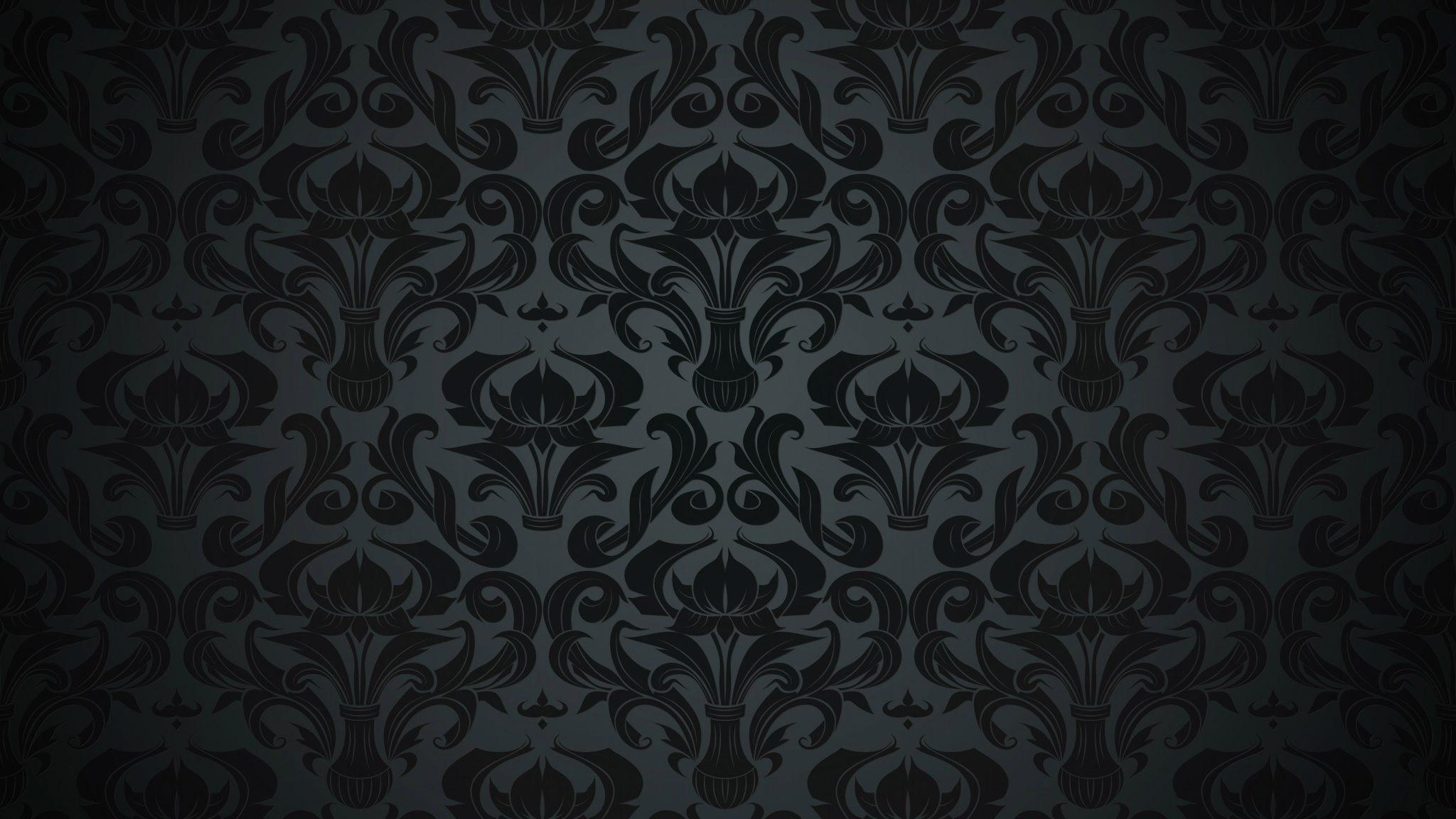 Pattern Black Dark Vintage 4K Wallpaper