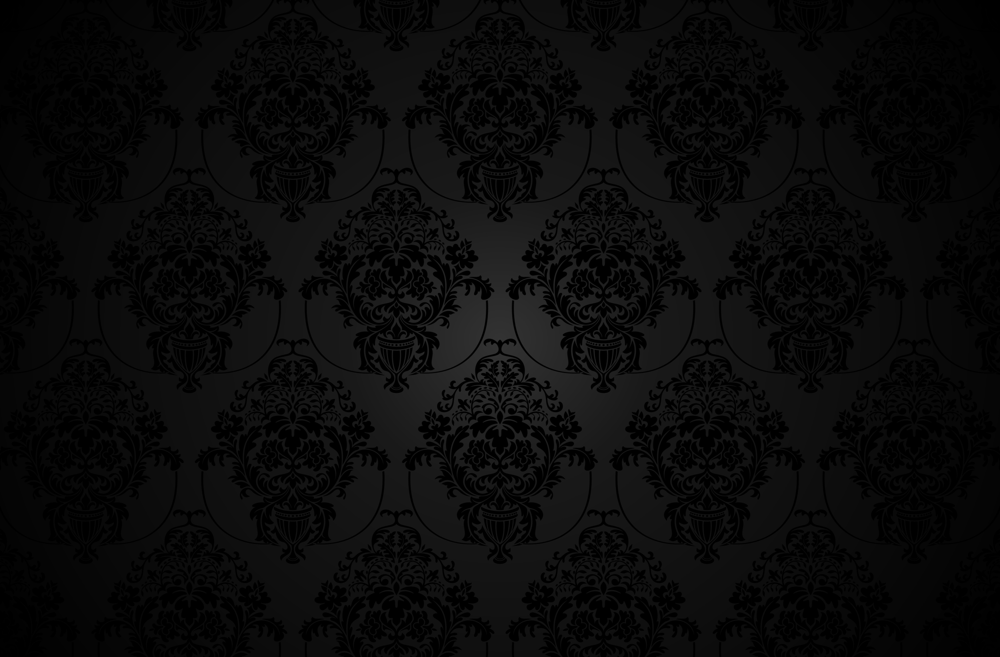 Pattern Black Dark Vintage Monochrome 4K Wallpaper - Best ...