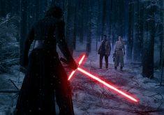 Rey Kylo Ren Finn Lightsaber Star Wars 5K Wallpaper