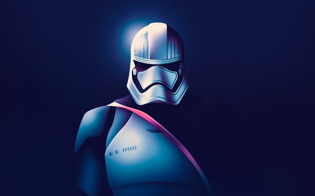 Star Wars Captain Phasma Artwork 4K Wallpaper