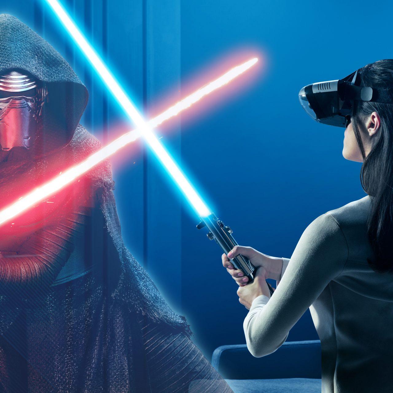 Star Wars Rey Kylo Ren Lightsaber 8k Wallpaper Best Wallpapers