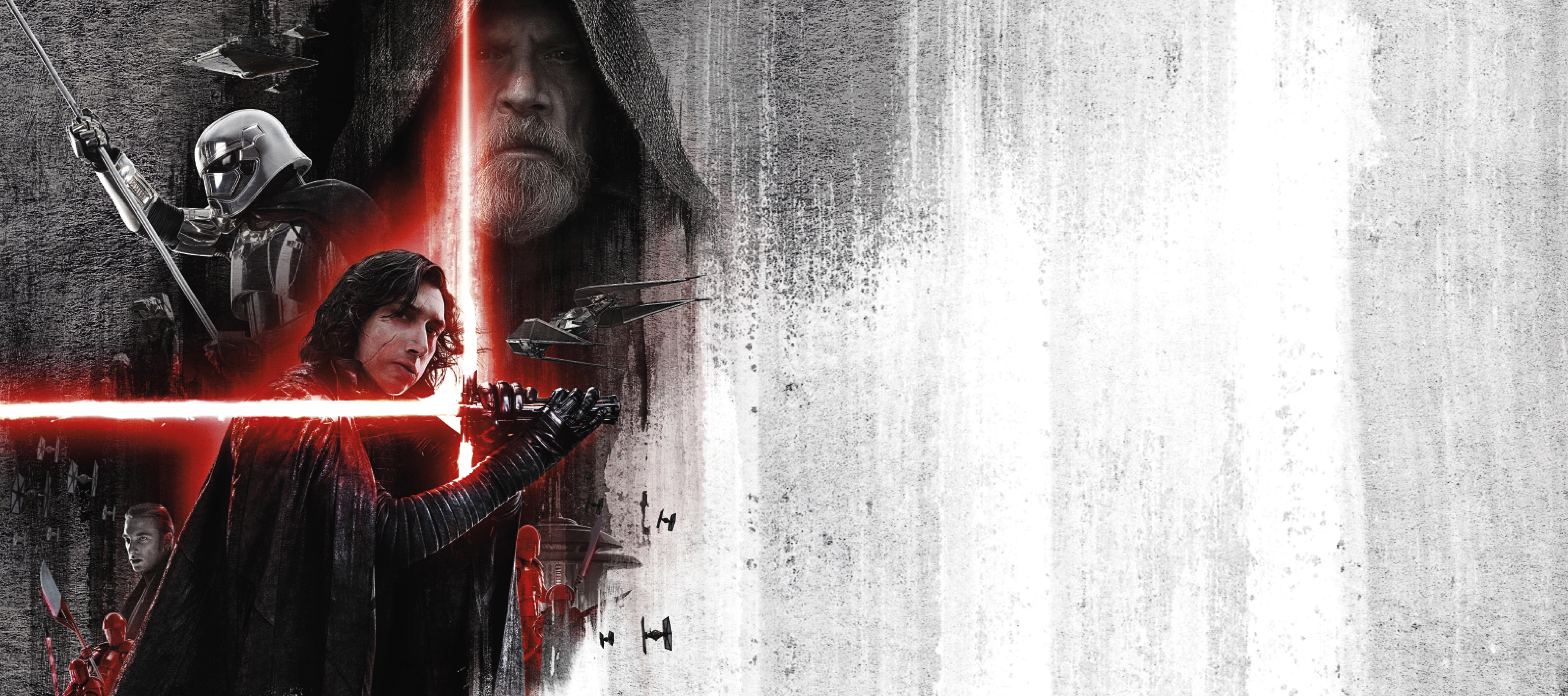Star Wars The Last Jedi Lightsaber Movie Poster 8k Wallpaper Best Wallpapers