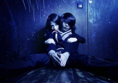 Teenage Couple Love Cute Blue Lights 4K Wallpaper