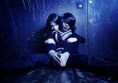 Teenage Couple Love Cute Blue Lights 4K Wallpaper